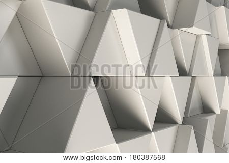 Pattern Of White Triangle Prisms