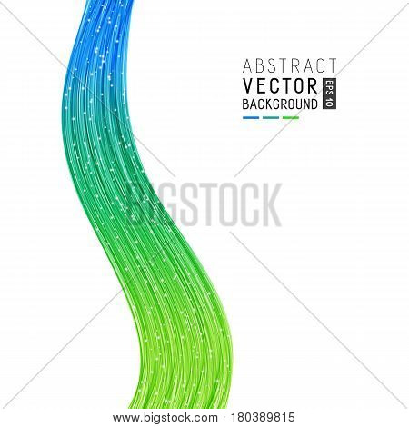 Abstract Background with Bright Gradient Vertical Wave Lines. Modern Design for Business Presentation Publications Blank Template Cover.
