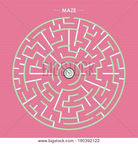Modern Circular Maze With Dartboard