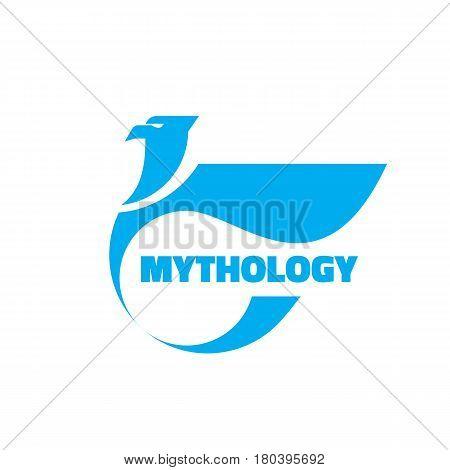 Mythology - vector logo template concept illustration. Eagle creative ancient sign. Abstract griffin heraldic symbol. Design element.