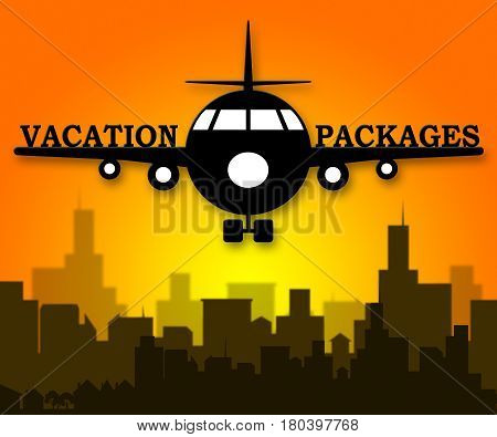 Vacation Packages Shows All Inclusive Getaways 3D Illustration