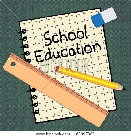 School Education Representing Kids Education 3D Illustration