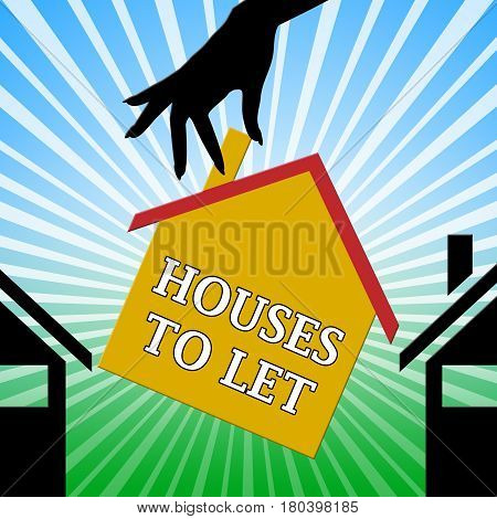 Houses To Let Shows For Rent 3D Illustration