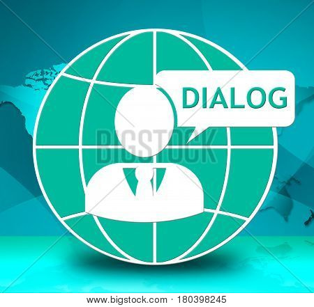 Dialog Icon Shows Group Discussion 3D Illustration