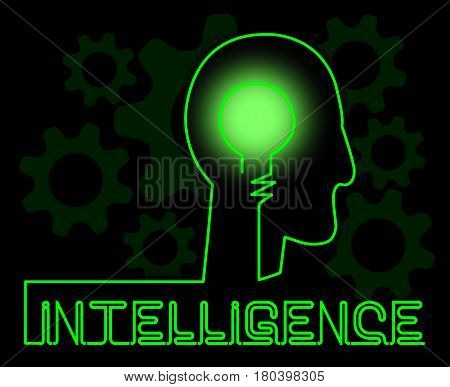 Intelligence Brain Represents Intellectual Capacity And Acumen