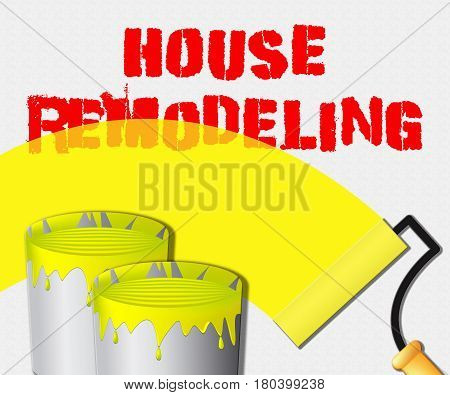 House Remodeling Displays Home Remodeler 3D Illustration