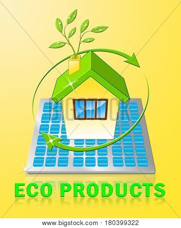 Eco Products Displays Green Goods 3D Illustration