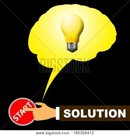 Solution Light Representing Solving And Resolution 3D Illustration