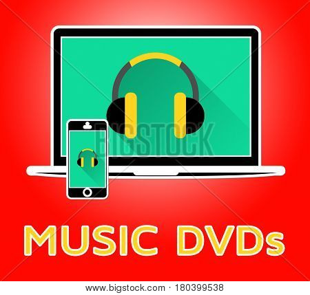 Music Dvds Indicates Compact Discs 3D Illustration