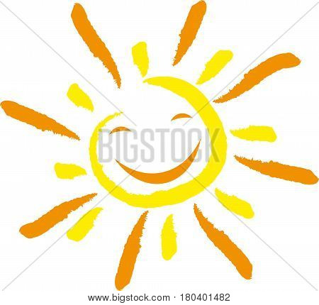 Sun with smile, sun and sunshine logo