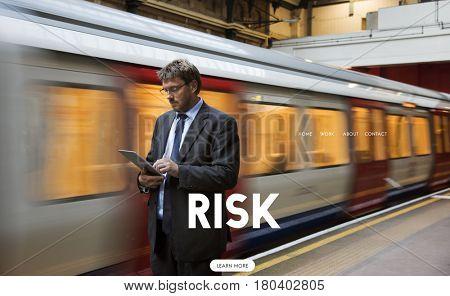 Risk Hazard Danger Problem Management Word