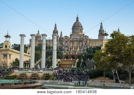The National Palace was the main site of the 1929 International Exhibition on the hill of Montjuic in Barcelona. Since 1934 it has been home to the National Art Museum of Catalonia Spain
