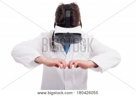 Medic Or Doctor Opening Something Imaginary