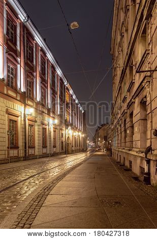 Wroclaw At Night, Poland