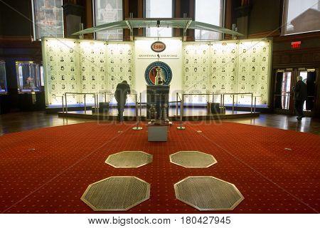 TORONTO, CANADA - circa february 2017: Hockey Hall of Fame, Great Hall