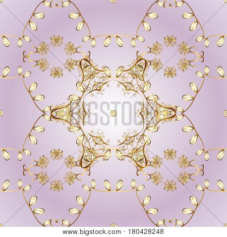 Ornament classic vector golden pattern. Traditional orient ornament. Classic vintage background. Golden pattern on background with golden elements.