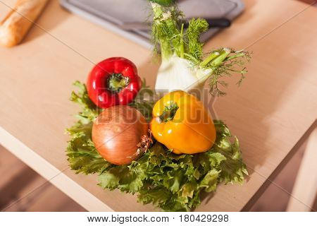 a Fresh vegetable for a tasty salad