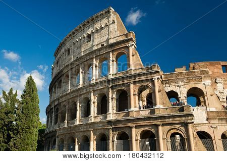 ROME - OCTOBER 4, 2012:  Colosseum (Coliseum) in Rome, Italy.