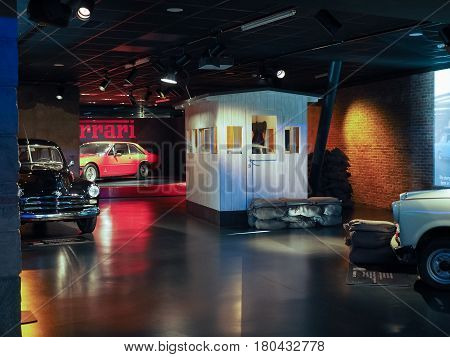 Ancient Cars At Car Museum In Turin