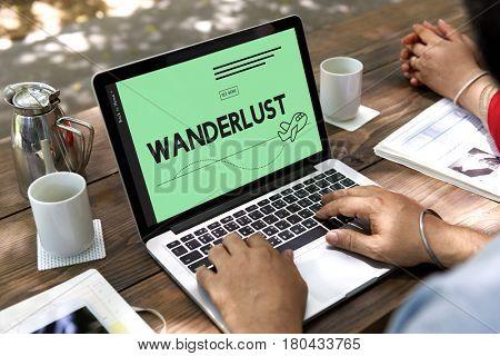 Wander wanderlust travel plane symbol