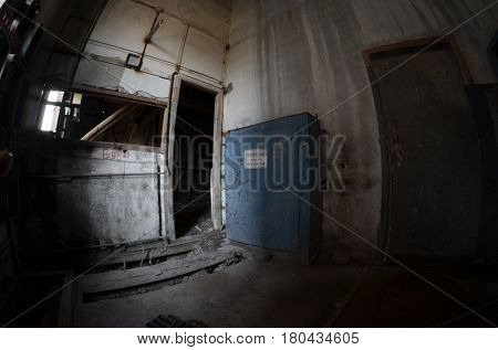 Industrial decay.Kiev Sign-Danger.High voltage (RU)
