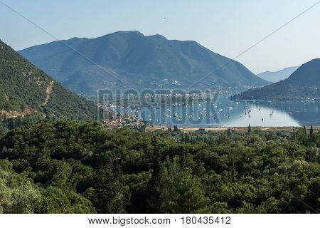 Amazing panorama of Nidri Bay, Lefkada, Ionian Islands, Greece