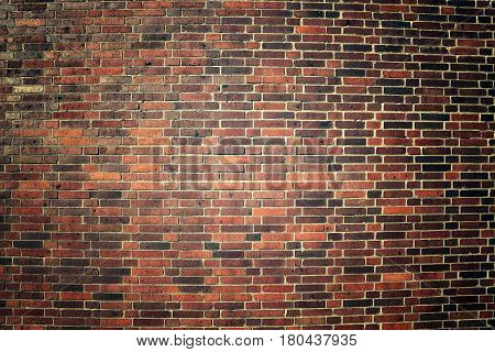 Picture Of An Old Weathered Clinker Brick Wall.
