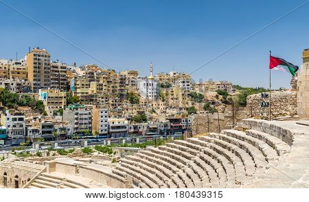 View of Amman from Roman Theater - Jordan