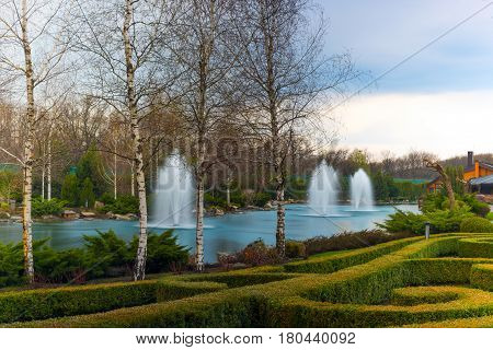 Fountains And Nature.