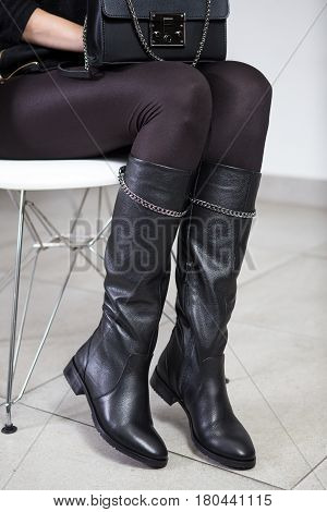 Lookbook, Women's High Leather Boots,