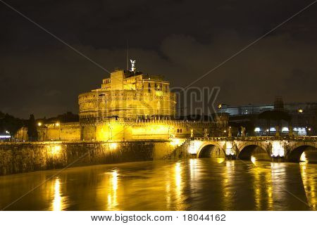 Castel Sant'angelo And The Sant'angelo Bridge