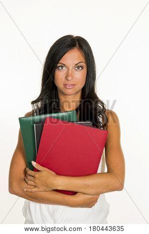 student with college portfolios