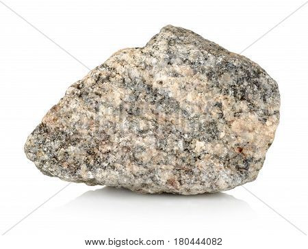 Granite stone isolated on a white background