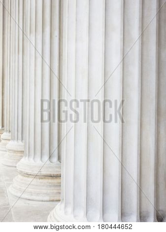 columns at parliament in vienna