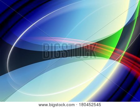 colorful, rainbow abstract background in the form of two ellipses, there is a place for your text