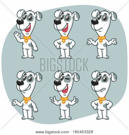 Set Characters Dog Shows And Indicates