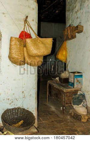 Old Pantry Storage Deposit In A Poor Farmhouse In The Brazilian Countryside With Traditional Outback