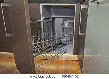 Kitchen Interior Design Corner Cupboard Detail