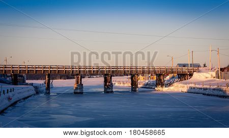old wooden bridge in prince Edward island