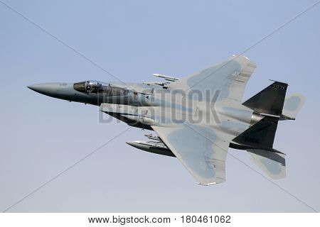 F15 Fighter Jet Flying