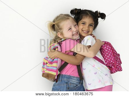 Little Girl Children Smiling Happiness Friendship