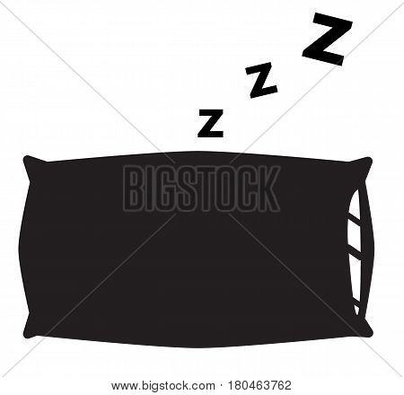 pillow icon on white background. pillow sign.