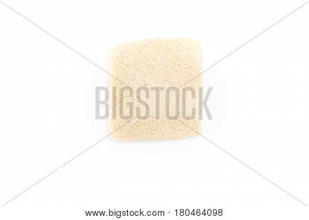 White No Crust Sandwich Bread Slice, On White Background.