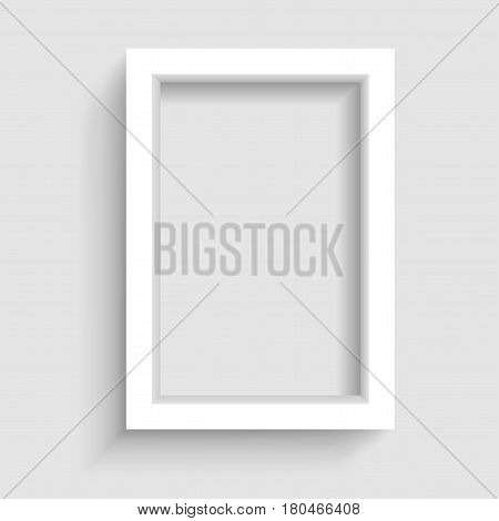 Presentation A3 or A4 vertical picture frame design with shadow on gray background