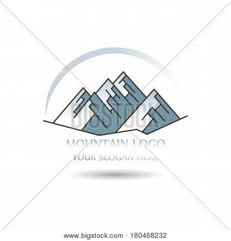 Mountain Logo template. Vector illustrator mountain peaks