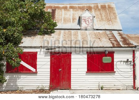 The house with divers' painting in Cockburn Town on Grand Turk island (Turks & Caicos).