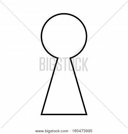 Keyhole Silhouette Outline Vector Symbol Icon Design.