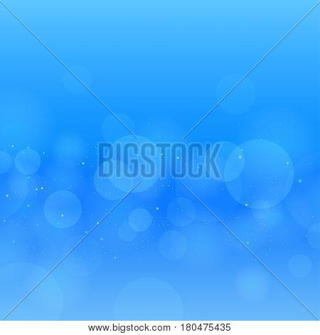 Nature blue water circles bokeh. Underwater background