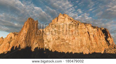 Cloudy Blue Sky Over Smith Rock