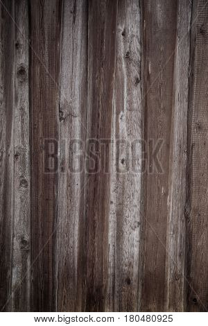 Wall Of An Old Wooden Shed Of Rough Boards